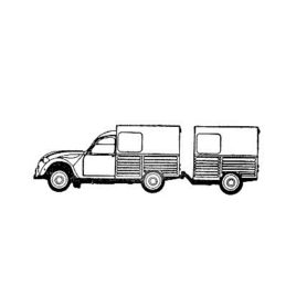Wagen mit Anhänger