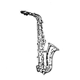 Blasinstrument Saxofon 01