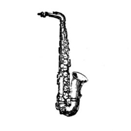 Blasinstrument Saxofon 02