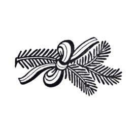 Zweig mit Schleife